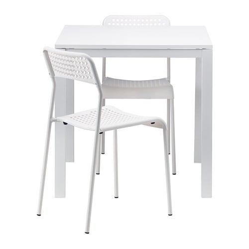 【IKEA/イケア/通販】 MELLTORP メルトルプ / ADDE アッデ テーブル&チェア2脚, ホワイト, ホワイト(a)(S59246378)