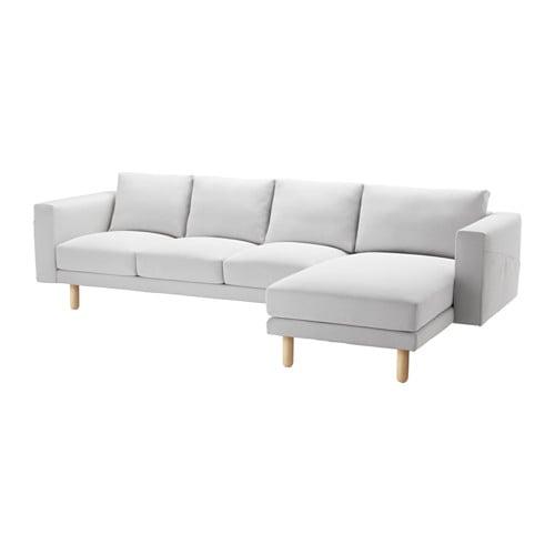 【IKEA/イケア/通販】 NORSBORG ノルスボリ 4人掛けソファ, 寝椅子付き フィーンスタ, バーチ フィーンスタ ホワイト/バーチ(c)(S99139055)