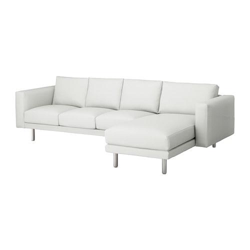 【IKEA/イケア/通販】 NORSBORG ノルスボリ 4人掛けソファ, フィーンスタ 寝椅子付き, フィーンスタ メタル ホワイト/メタル(S99242161)【代引不可商品】