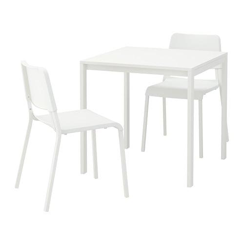 【IKEA/イケア/通販】 MELLTORP メルトルプ / TEODORES テオドレス テーブル&チェア2脚, ホワイト, ホワイト(a)(S39246379)
