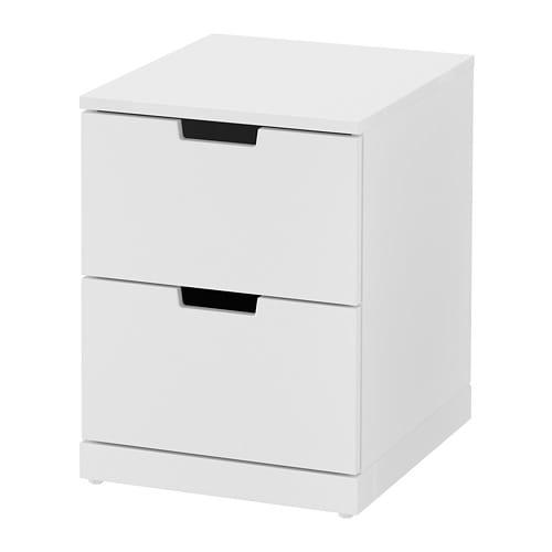 【IKEA/イケア/通販】 NORDLI ノールドリ チェスト(引き出し×2), ホワイト(a)(S89239828)
