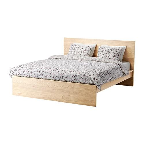 【IKEA/イケア/通販】 MALM マルム ベッドフレーム(a)(※マットレスなど別売りの商品がございます。ご注意ください)(高め), ホワイトステインオーク材突き板, ルーローイ(S09030719)
