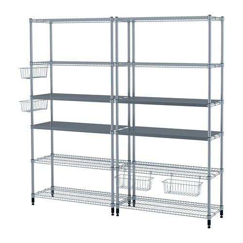 【IKEA/イケア/通販】 OMAR オマル 2シェルフセクション(a)(S69279052)【代引不可商品】