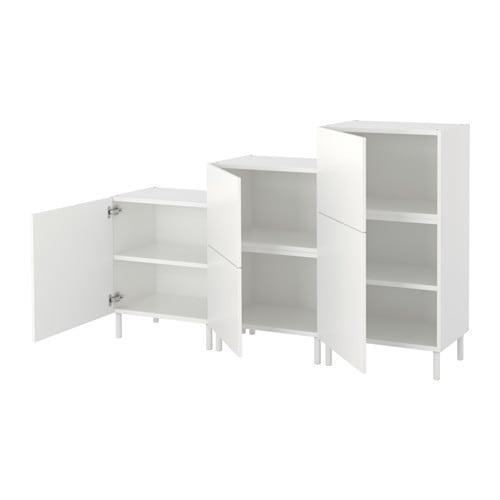 【IKEA/イケア/通販】 PLATSA プラッツァ キャビネット, ホワイト, フォッネス ホワイト(S39241942)【代引不可商品】
