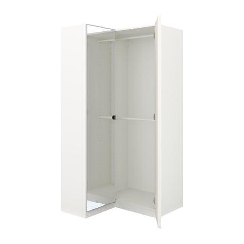 【IKEA/イケア/通販】 PAX パックス コーナーワードローブ, ホワイト, ファルダル ヴィーケダール(a)(S99218340)