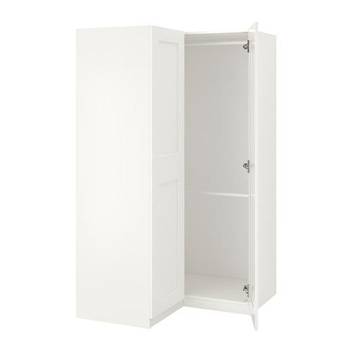 【IKEA/イケア/通販】 PAX パックス コーナーワードローブ, ホワイト, グリモ ホワイト(S79218510)