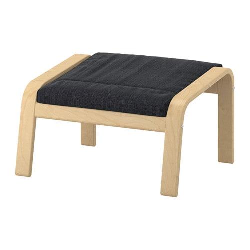 【IKEA/イケア/通販】 POÄNG ポエング フットスツール, バーチ材突き板, ヒッラレド チャコール(a)(S39197864)