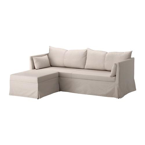 SANDBACKEN Sleeper sectional, 3-seat - Lofallet beige - IKEA