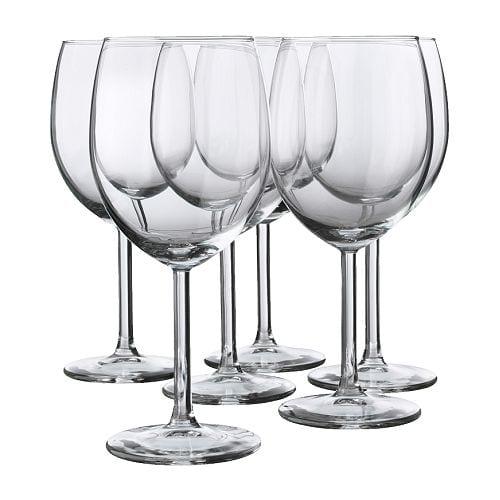 IKEA イケア イケヤ 食卓 ガラス製品 水差し ワイングラス 特選商品 通販 スヴァルカ 1年保証 SVALKA 赤ワイングラス 6 c クリアガラス 在庫処分 40137812 ピース