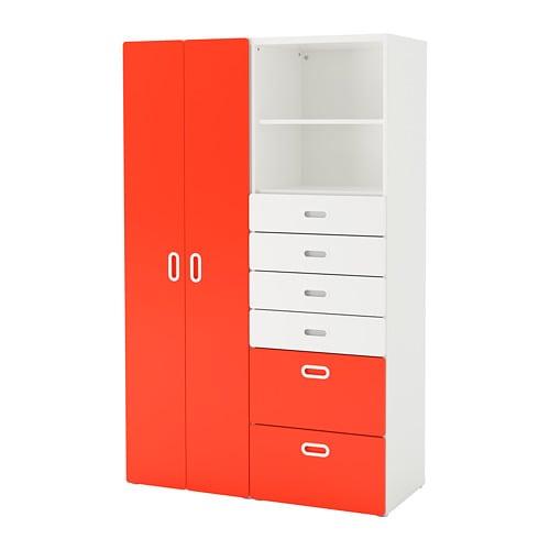 【IKEA/イケア/通販】 STUVA ストゥヴァ / FRITIDS フリーティズ ワードローブ, ホワイト, レッド(S09276462)【代引不可商品】