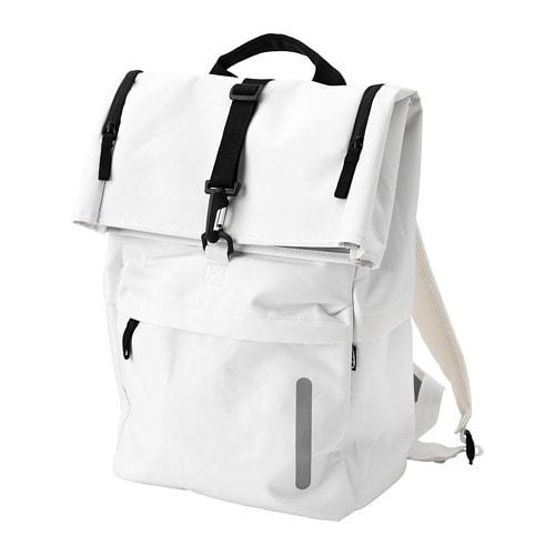 【IKEA/イケア/通販】 STARTTID スタルッティド バックパック, オフホワイト, ブラック(a)(30409974)