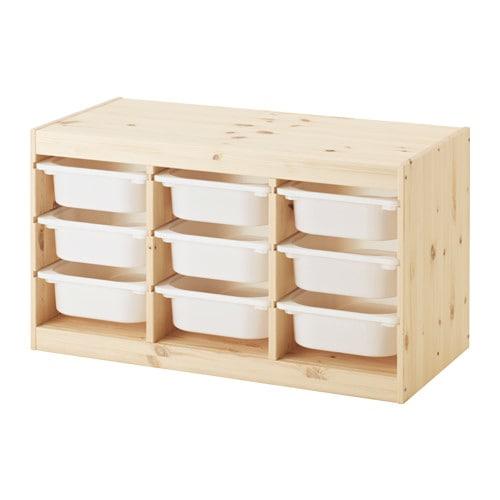 【IKEA/イケア/通販】 TROFAST トロファスト 収納コンビネーション, ライトホワイトステインパイン, ホワイト(d)(S59240871)