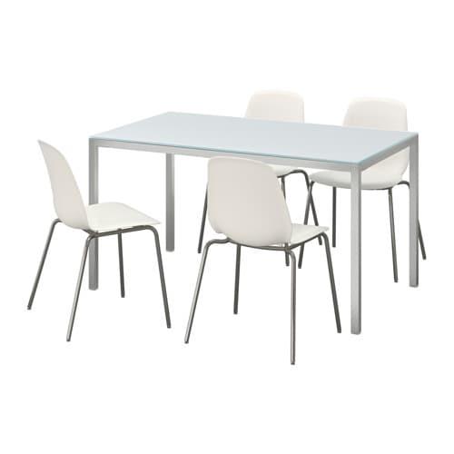 【IKEA/イケア/通販】 TORSBY トールスビー / LEIFARNE レイフアルネ テーブル&チェア4脚, ガラス ホワイト, ホワイト(a)(S09184066)