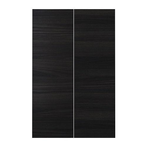 【IKEA/イケア/通販】 TINGSRYD ティングスリード 扉 コーナーベースキャビネット用 部品2個, 木目調 ブラック(a)(20275017)