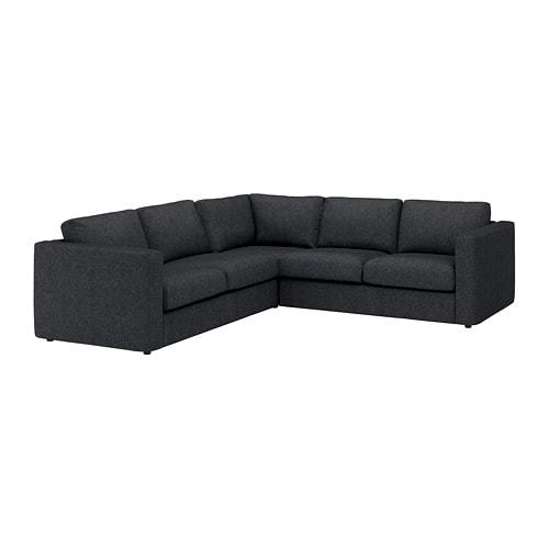 【IKEA/イケア/通販】 VIMLE ヴィムレ コーナーソファ、4人掛け, タルミーラ ブラック/グレー(S19253549)【商品】