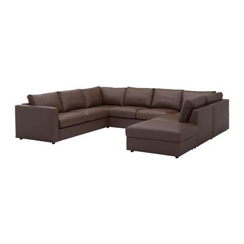 【IKEA/イケア/通販】 VIMLE ヴィムレ U字形ソファ、6人掛け, オープンエンド, ファールスタ ダークブラウン(a)(S79211580)【代引不可商品】