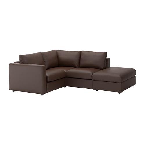 【IKEA/イケア/通販】 VIMLE ヴィムレ コーナーソファ、3人掛け, オープンエンド, ファールスタ ダークブラウン(a)(S19211540)【代引不可商品】