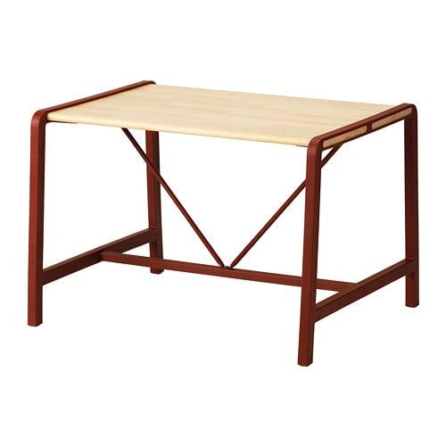 【IKEA/イケア/通販】 YPPERLIG イッペルリグ 子供用テーブル, ビーチ, ダークレッド(d)(60348663)