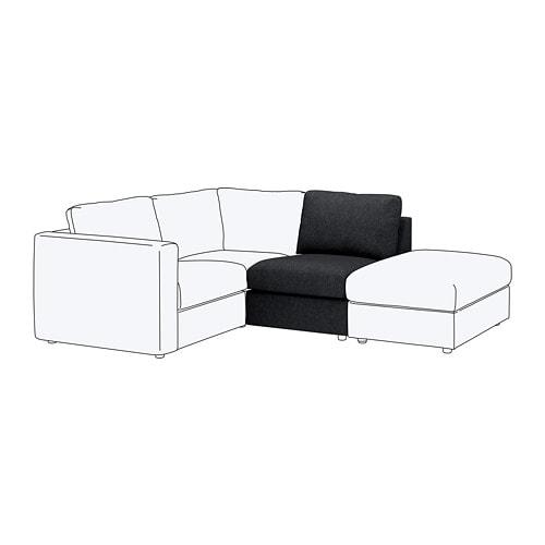 【IKEA/イケア/通販】 VIMLE ヴィムレ 1人掛けソファセクション, タルミーラ ブラック/グレー(S49253519)