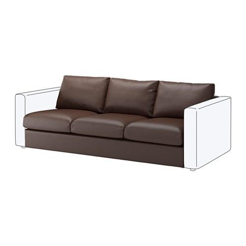 【IKEA/イケア/通販】 VIMLE ヴィムレ 3人掛けソファセクション, ファールスタ ダークブラウン(a)(40353429)【代引不可商品】