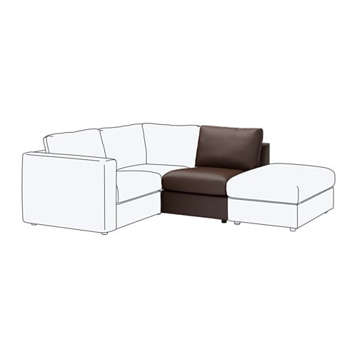 【IKEA/イケア/通販】 VIMLE ヴィムレ 1人掛けソファセクション, ファールスタ ダークブラウン(c)(60353414)