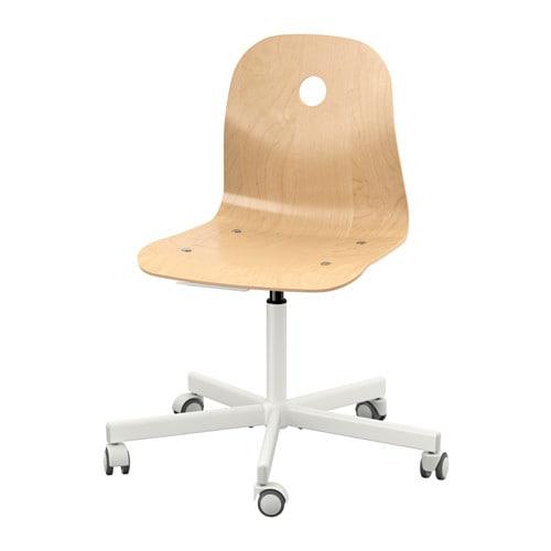 【IKEA/イケア/通販】 VÅGSBERG ヴォーグスベリ / SPORREN スポーレン 回転チェア, バーチ材突き板, ホワイト(c)(S59006665)