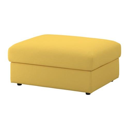 【IKEA/イケア/通販】 VIMLE ヴィムレ フットスツール 収納付き, オッルスタ ゴールデンイエロー(c)(S49205458)