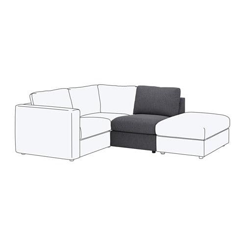 【IKEA/イケア/通販】 VIMLE ヴィムレ 1人掛けソファセクション, グンナレド ミディアムグレー(S99220116)