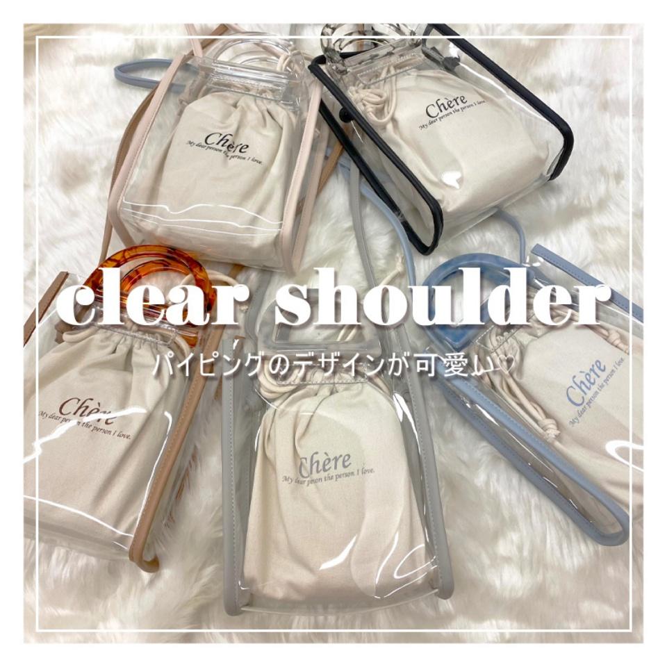 ショルダーバッグ レディース バッグ オリジナル クリア クリアバッグ ハンドルバッグ SALE10%OFF 迅速な対応で商品をお届け致します グリーン ウィゴー ハンドル パイピングハンドルクリアショルダー ショルダー WEGO