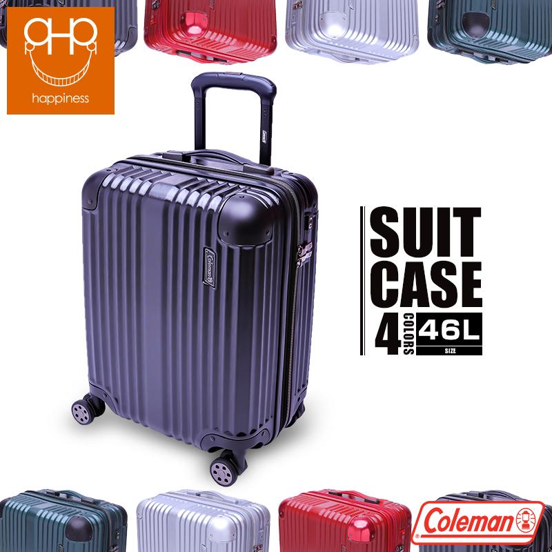 スーツケース キャリーケース 機内持ち込み Coleman コールマン TSAロック 超軽量