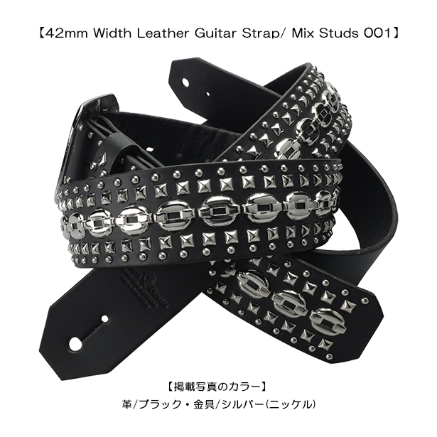 dea9eada78be Country of origin  Japan Material  leather and studs   brass. Size  leather  width 42 mm   length   120 cm-140 cm  Design photos  body   black-metal    silver
