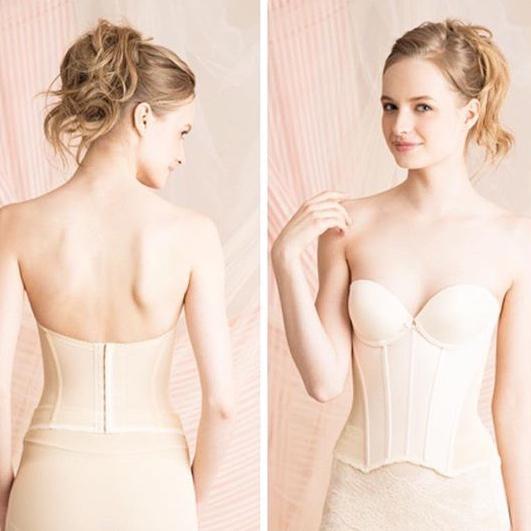TheD(ザ・ディ)ザディ/【ブライダルインナー】美しいボディラインとドレスを着用した時に綺麗に見える_ロングラインブラ シンプル ドレスインナーとして人気です ≪ビスチェタイプ≫
