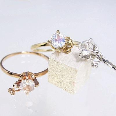 ダイヤモンド リング K18 送料無料 受注品 ダイヤリング フラワー レディース シンプル ダイヤ 記念 ジュエリー アクセサリー お祝い ギフト 誕生日プレゼント 女性 贈り物 ダイヤモンド