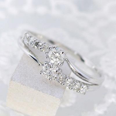 ダイヤモンド リング K18 0.3ct 送料無料 受注品 ダイヤリング スイートテン レディース シンプル ダイヤ 記念 ジュエリー アクセサリー お祝い ギフト 誕生日プレゼント 女性 贈り物 ダイヤモンド