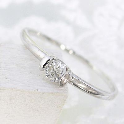 ダイヤモンド リング K18 0.1ct 送料無料 受注品 ダイヤリング  レディース シンプル ダイヤ 記念 ジュエリー アクセサリー お祝い ギフト 誕生日プレゼント 女性 贈り物 ダイヤモンド