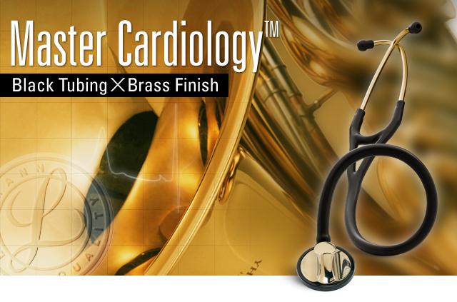 聽診器與 3m 獲得聽診器主心臟黃銅版黑色 2175 [fs04gm]