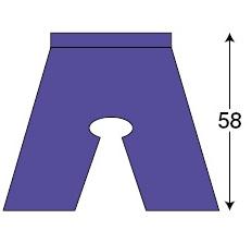 検査衣(パンツ) IP-130 100枚入 丈58cm  【送料・代引き手数料無料】
