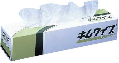 日本製紙クレシア キムワイプ L-100 100枚×18箱/ケース 470×425mm 62001