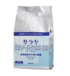 サラヤ サラヤエタノールクロス80 詰替用 250枚×6コ 【送料・代引き手数料無料】
