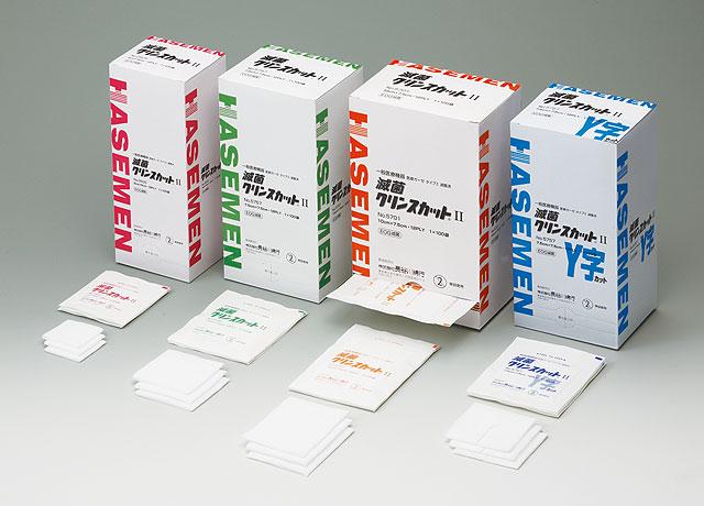 長谷川棉花線不育罪行裁片二 Y 形切 7.5 x 7.5 12ply 袋 1 x 100