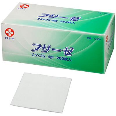 白十字無紡布gazefurize 25cmx25cm 4個200張裝