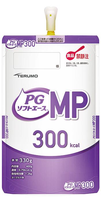 テルモ PGソフトエースMP 300kcal 半固形タイプ ヨーグルト味 400g×16パック入 PE-75ES030M