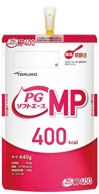 テルモ PGソフトエースMP 400kcal 半固形タイプ ヨーグルト味 533g×12パック入 PE-75ES040M