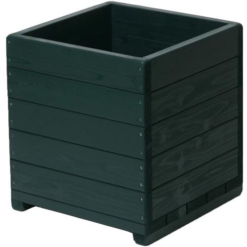 Welcome wood 大型植木鉢 15号ウッドプランターEHD15-GG  容量・約73リットル   ( 木製 植木鉢 大型プランター  丸鉢の転倒防止にもご利用ください )