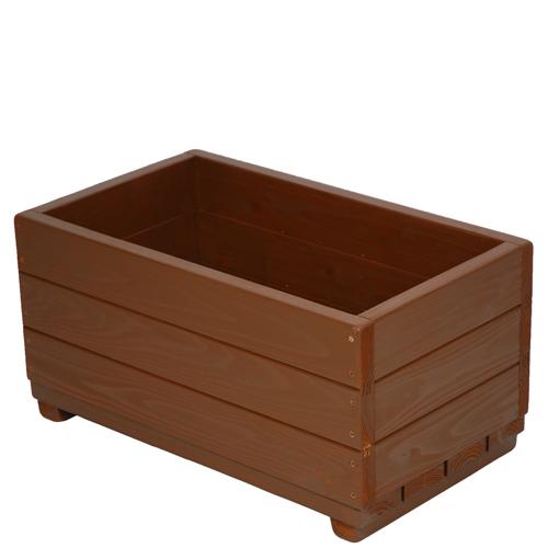 Welcome wood 大容量エクステリアプランター  EPL66-CB 色はカフェブラウン(CB) 容量・約53リットル  (プランター 大型  木製 大型プランター 鉢カバー 演出用)