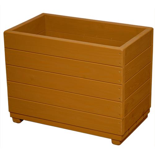 Welcome wood 大容量プランター 深型タイプ EPLD66-BB 色はブライトブラウン(BB) 容量・約89リットル   (プランター 大型  木製大型プランター 演出用)