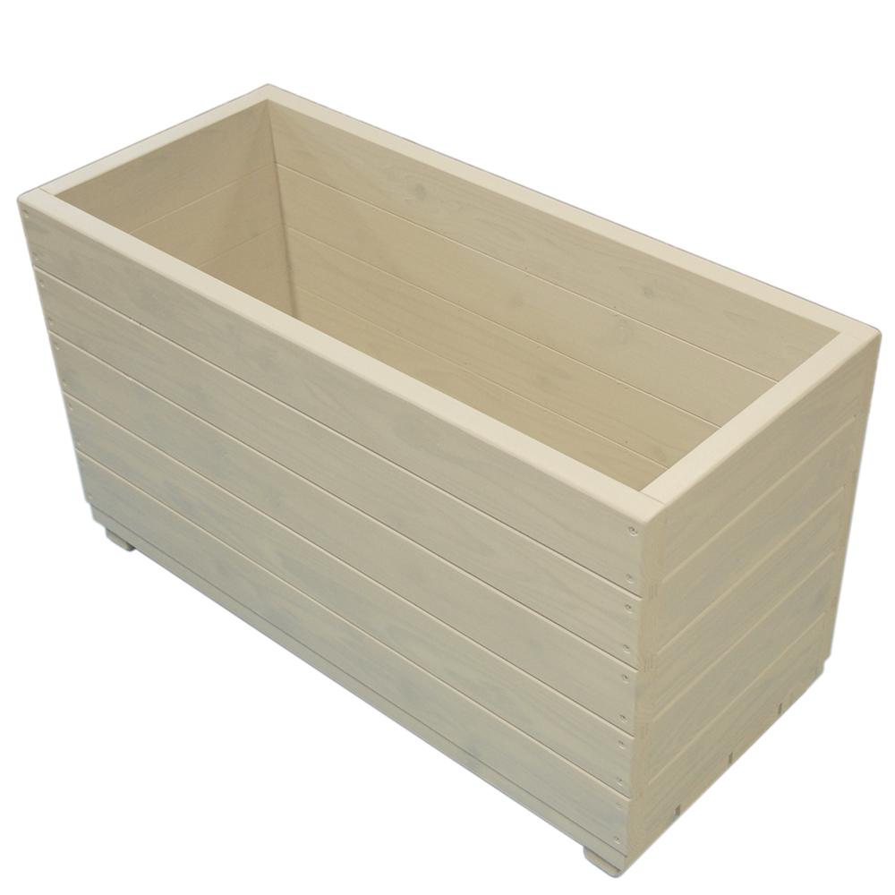 Welcome wood 大型プランター 大容量タイプ EPLD90-GC 色はガーデンクリーム(GC) 容量・約124リットル  (プランター 大型  木製大型プランター 演出用)