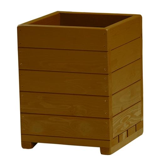 Welcome wood 大型鉢 13号ウッドプランターEHD13-BB 色はブライトブラウン(BB) 容量・約49リットル   (大型 植木鉢 木製 大型プランター 大型鉢 鉢カバー)