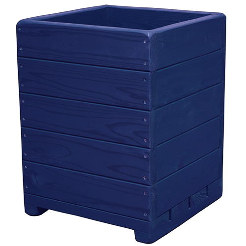 Welcome wood 大型鉢 13号ウッドプランターEHD13-GB 色はガーデンブルー(GB) 容量・約49リットル   (大型 植木鉢 木製 大型プランター 大型鉢 鉢カバー)