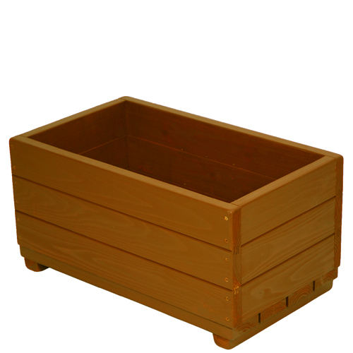 Welcome wood 大容量エクステリアプランター  EPL66-BB 色はブライトブラウン(BB) 容量・約53リットル   (プランター 大型  木製 大型プランター 鉢カバー 演出用)